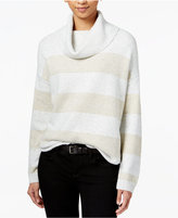 Tommy Hilfiger Striped Metallic Turtleneck Sweater, Only at Macy's