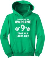 TeeStars - This Is What an Awesome 9 Year Old Looks Like Youth Hoodie