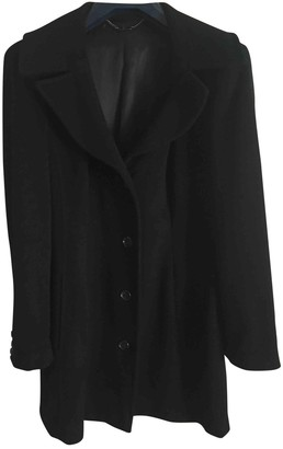 Dolce & Gabbana Black Wool Coats