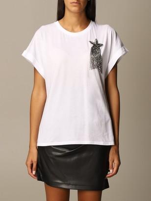 Twin-Set Twin Set T-shirt Cotton T-shirt With Lurex Star
