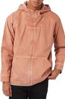 Topman Hooded Zip Denim Jacket