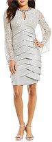 London Times Lace Shutter Sheath Dress