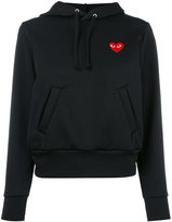 Comme des Garcons heart patch hoodie - women - Polyester - S