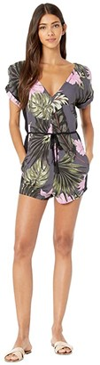 Hurley Printed Woven Romper (Anthracite) Women's Jumpsuit & Rompers One Piece