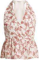 Emilia Wickstead Lucie floral-print halterneck crepe top