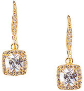 Anne Klein Pave Crystal Drop Earrings