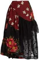 Simone Rocha Asymmetric embroidered panelled skirt