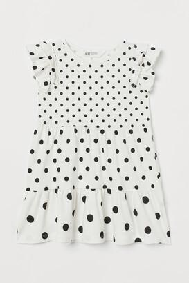 H&M Flutter-sleeved Dress
