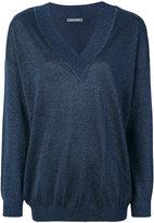 Alberta Ferretti V neck knitted top
