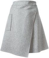 Carven asymmetric wrap skirt - women - Polyamide/Acetate/Viscose/Wool - 40