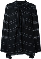 Proenza Schouler Striped pussybow top