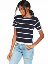 Very Short Sleeve Stripe Jumper