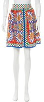 Dolce & Gabbana Carretto Siciliano Print Knee-Length Skirt