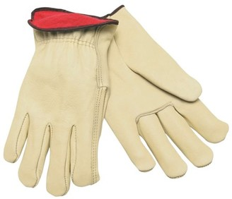 Mcr Safety Insulated Drivers Gloves, Premium Cowhide Leather, X-Large, Red Fleece Lining