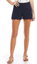 Blu Pepper Scalloped-Hem Shorts