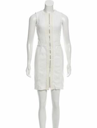 Narciso Rodriguez Sheath Mini Dress white