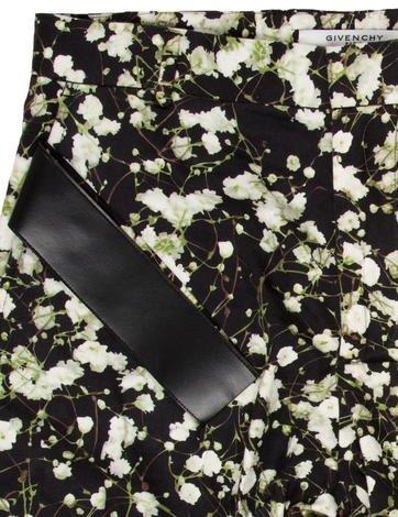 Givenchy Flat Front Floral Print Shorts