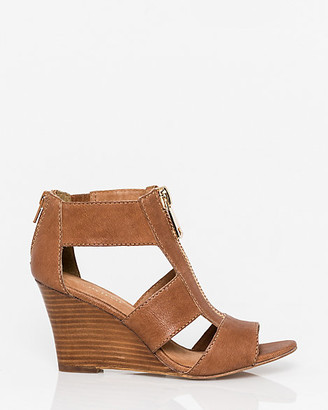 Le Château Leather Open Toe Gladiator Wedge Sandal