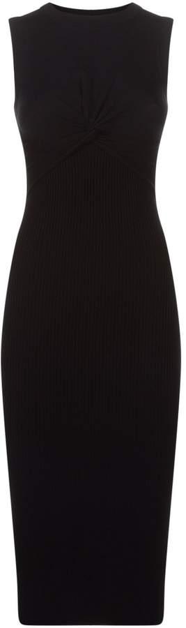 AllSaints Tyne Ribbed Knit Midi Dress