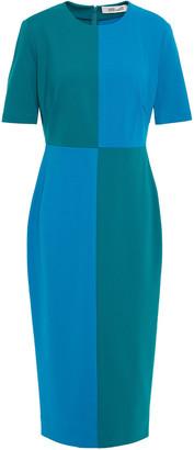 Diane von Furstenberg Davis Color-block Ponte Midi Dress