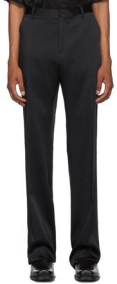 Versace Black Satin Trousers