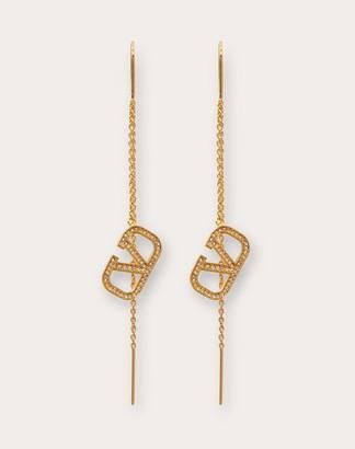 Valentino Vlogo Signature Earrings Women Gold Brass 100% OneSize