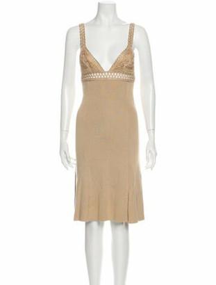 Valentino V-Neck Midi Length Dress w/ Tags