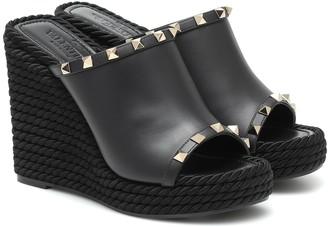 Valentino Garavani Rockstud platform wedge sandals