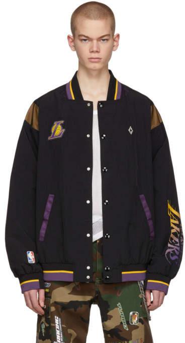 Marcelo Burlon County of Milan Black NBA Edition LA Lakers Jacket
