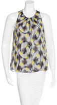 Peter Som Abstract Print Silk Top