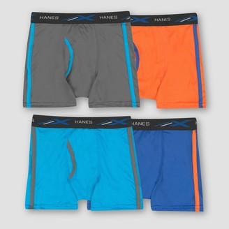 Hanes Hane Boy' Bonu Pack 4 Xtemp Poly Meh Boxer Brief - Color Vary