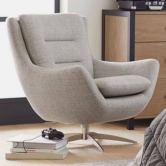 Pottery Barn Teen Boucle Twill Gravel Lennon Lounge Chair