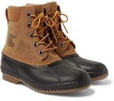 Sorel Cheyanne Ii Waterproof Suede And Rubber Duck Boots - Brown