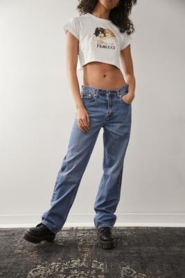 Levi's High Loose Straight Light Blue Jeans - Blue 24W 32L at Urban Outfitters