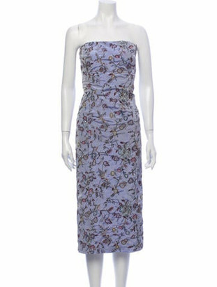 Lela Rose Silk Knee-Length Dress Rose