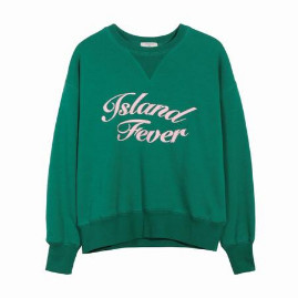FRNCH Island Fever Sweater - M/L - Green/Pink