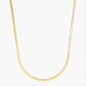 J.Crew Herringbone chain necklace