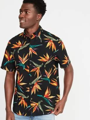 Old Navy Regular-Fit Built-In Flex Printed Getaway Shirt for Men