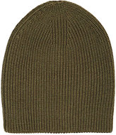 Barneys New York WOMEN'S SHAKER-STITCHED SLOUCHY HAT-GREEN