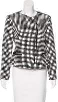 L'Agence Check Print Knit Jacket