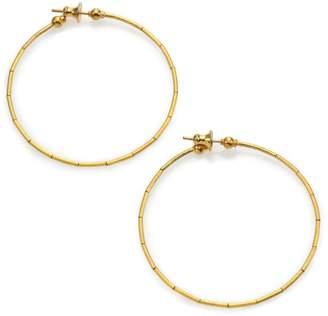 """Gurhan Rain 24K Yellow Gold Hoop Earrings/2"""""""