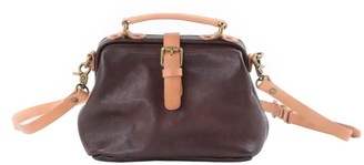 Touri Crossbody Genuine Leather Clutch Bag Handbag In Umber Brown