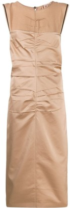 No.21 Ruched Fitted Sleeveless Dress