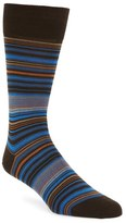 Bugatchi 'Alternating Thin Stripe' Socks