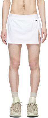 Rick Owens White Champion Edition Shorts