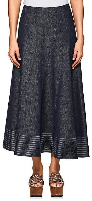 Derek Lam Women's Denim Midi-Skirt