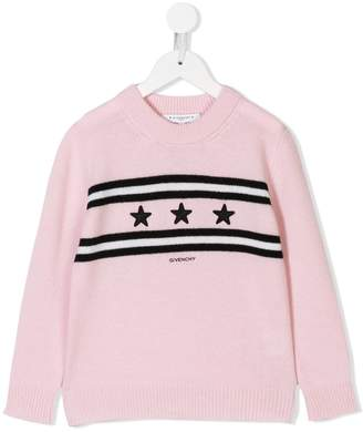 Givenchy Kids star logo appliqué sweater