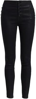 J Brand Natasha Sky High-Rise Coated Skinny Jeans