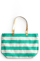 Rosanna Stripe Tote - Blue/green