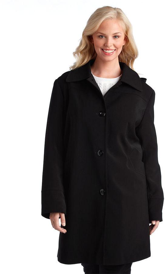 Portrait Plus Hooded A-Line Coat